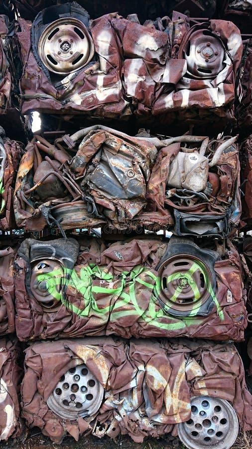Recyclerende Ruwe metalen royalty-vrije stock foto's