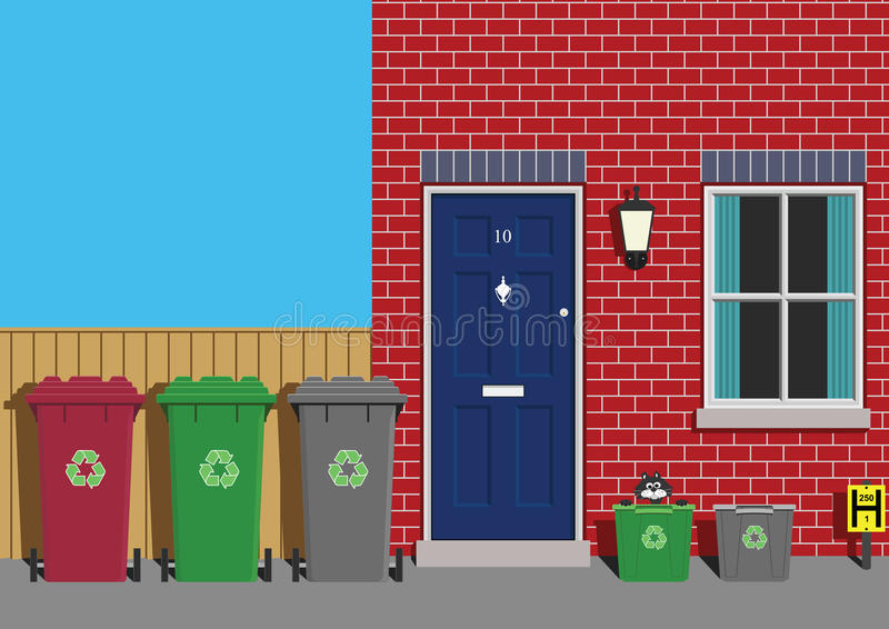 Download Recycling stock vector. Illustration of building, street - 12980001