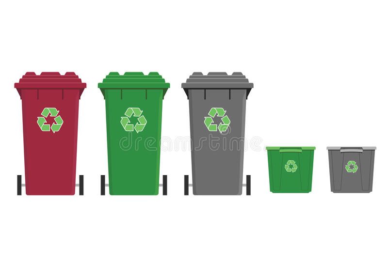 Recycling stock illustration
