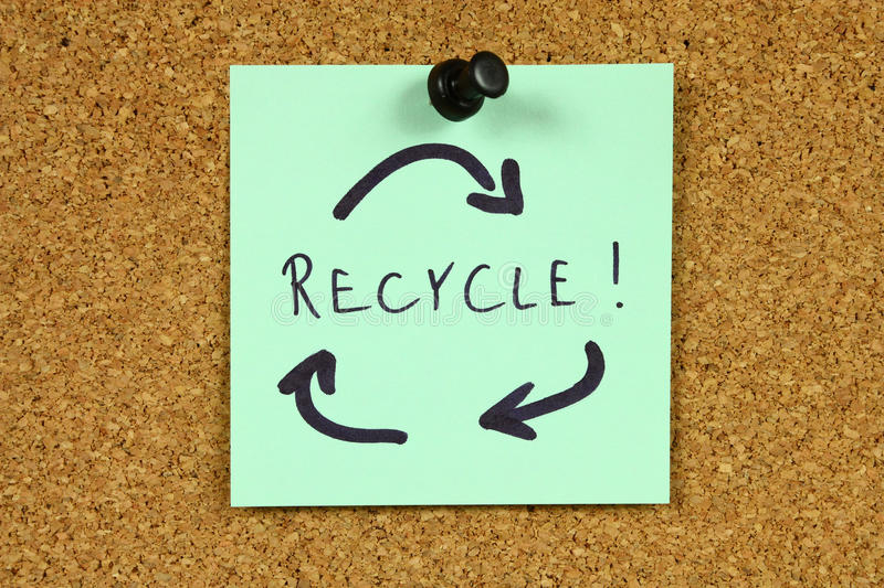 Download Recycling stock image. Image of remind, pinned, concept - 14851363