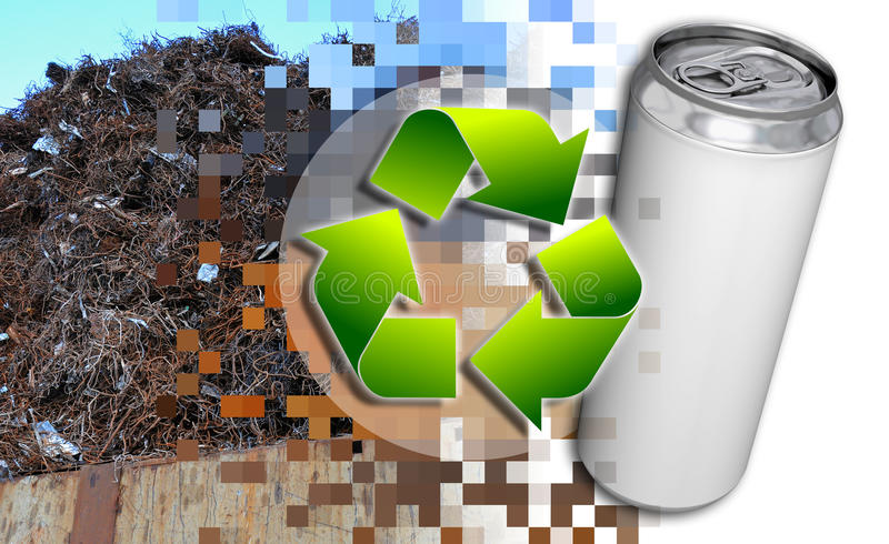 Download Recycling stock illustration. Image of arrow, dump, concrete - 18424313