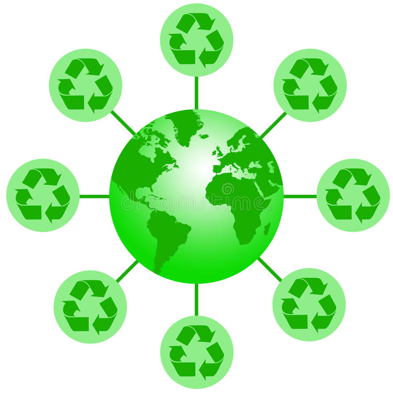 Recycling. Waste and caring about the earth's environment vector illustration