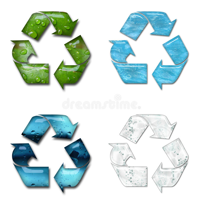 Recycling vector illustratie
