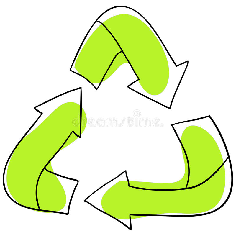 Recycling royalty free illustration