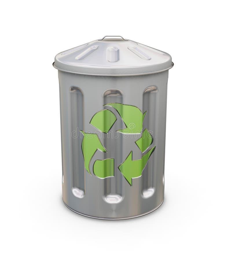 Recycling bin royalty free illustration