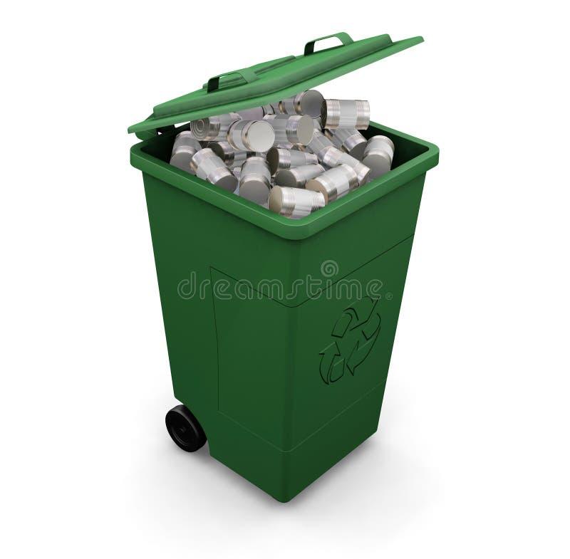 Download Recycling bin stock illustration. Illustration of refuse - 1096488