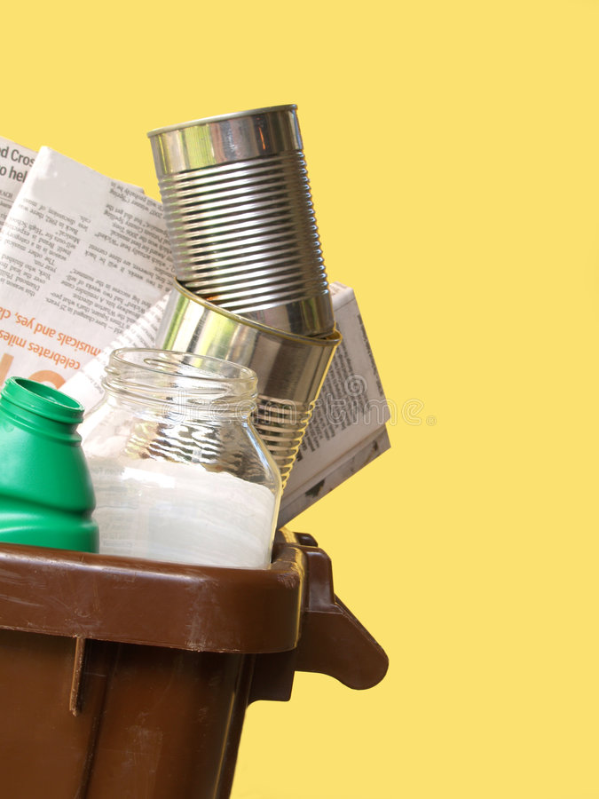 Recycling bin stock image