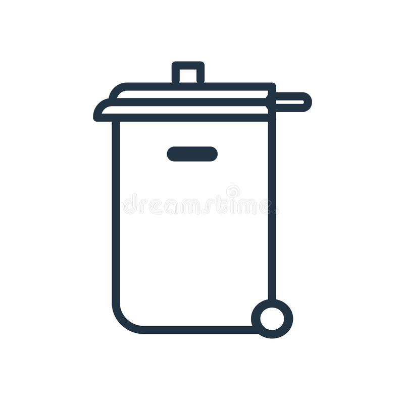 Recycling bin icon vector isolated on white background, Recycling bin sign. Recycling bin icon vector isolated on white background, Recycling bin transparent stock illustration