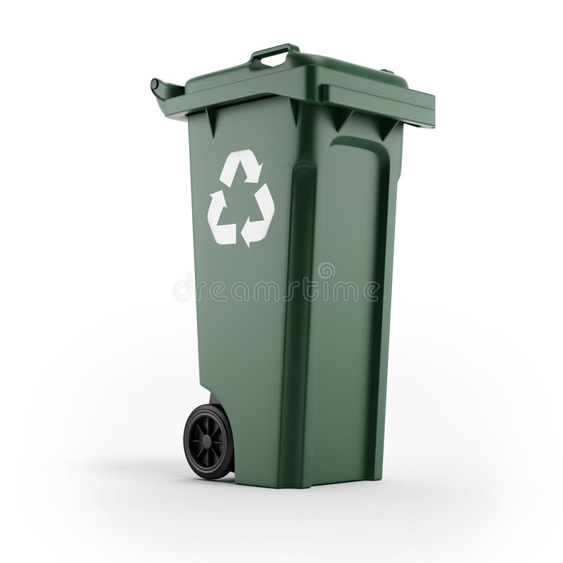 Download Recycling Bin With Recycling Symbol Stock Photo - Image: 27625390