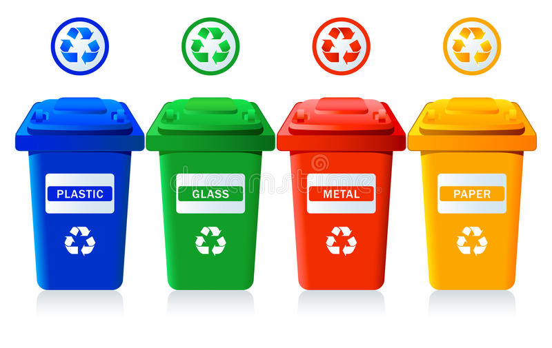 Recycling bins vector illustration