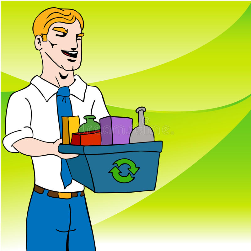 Download Recycling Businessman stock vector. Image of waste, green - 16251492