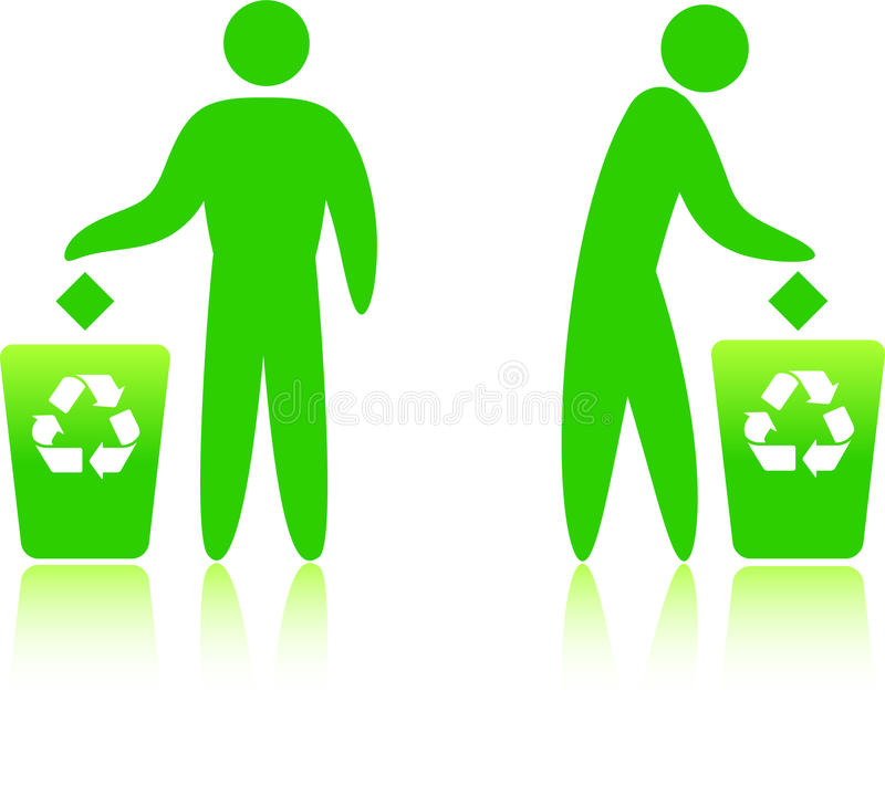 Download Recycling can stock vector. Image of green, stick, recycling - 12293291