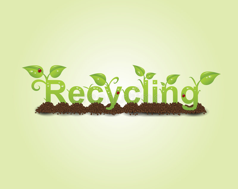 Recycling caption vector illustration