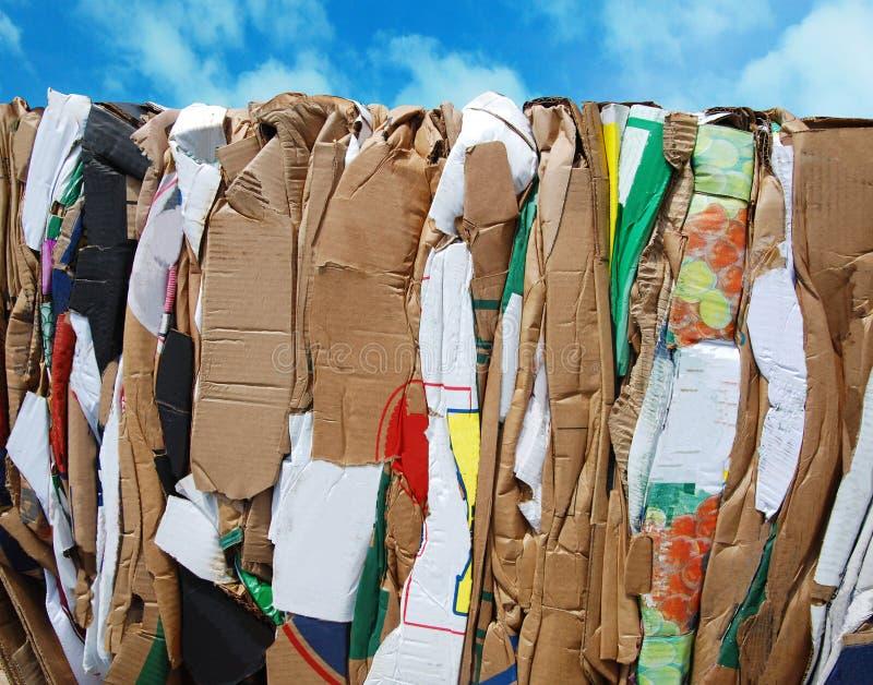 Recycling cartons royalty free stock photos