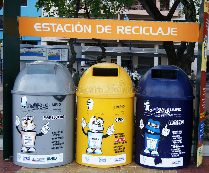 Recycling Center in Ecuador royalty free stock images