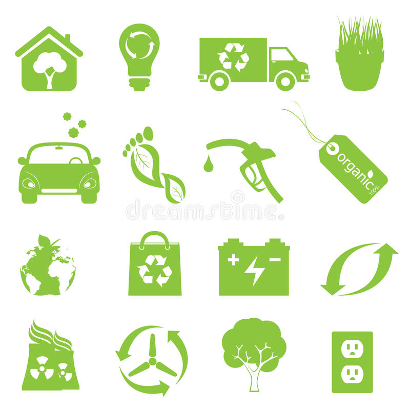 Download Recycling And Clean Environment Icon Set Stock Vector - Illustration: 21630499