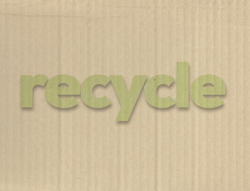 Recycling concept. Made Of Cardboard royalty free stock photos