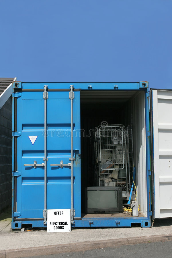Download Recycling Container For Electrical Goods Stock Photo - Image: 1436306