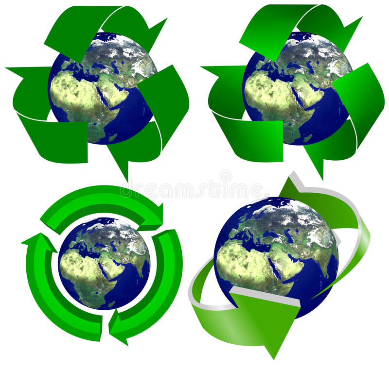 Download Recycling Earth stock illustration. Image of clean, earth - 24537036