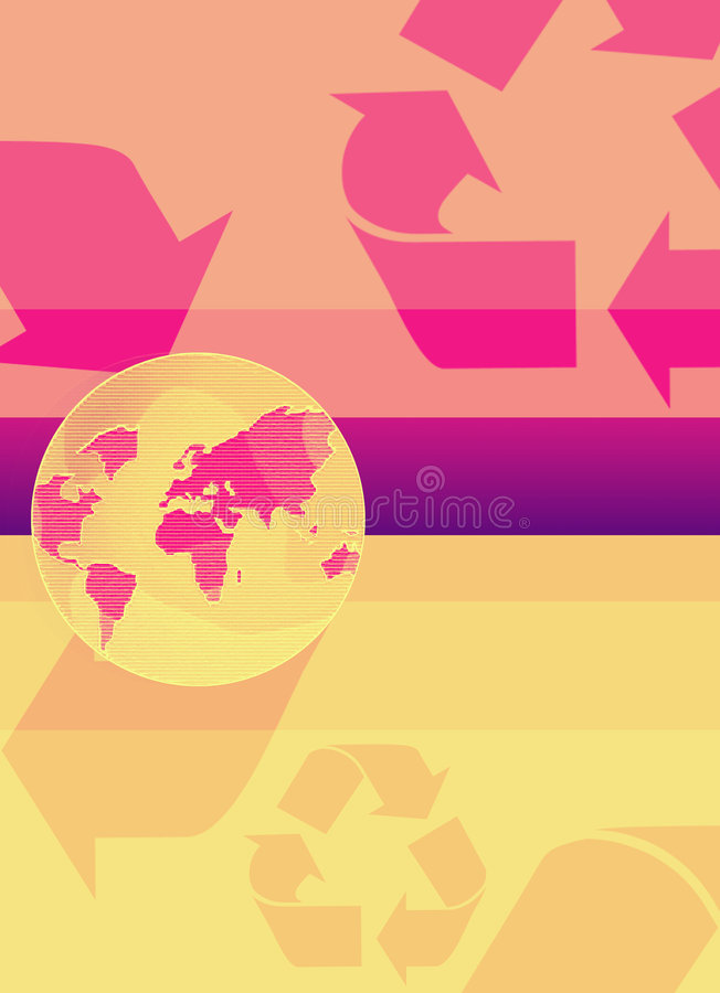 Download Recycling earth stock illustration. Image of globe, pure - 85801