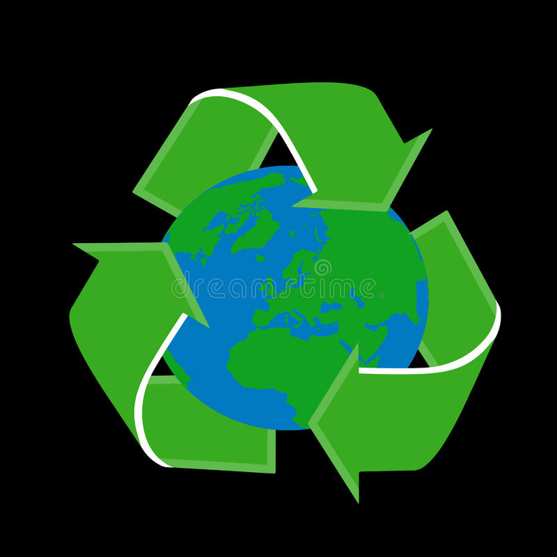 Recycling Earth globe royalty free stock image