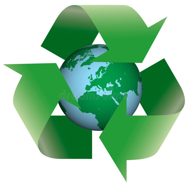 Recycling Earth vector illustration