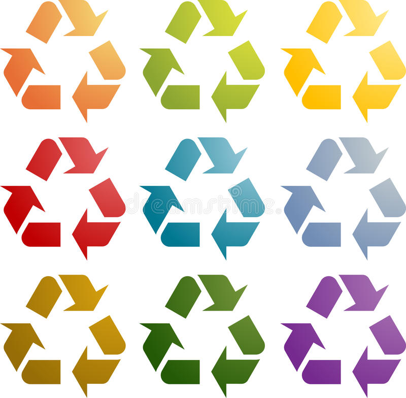 Download Recycling eco icon set stock illustration. Illustration of ecological - 11968018