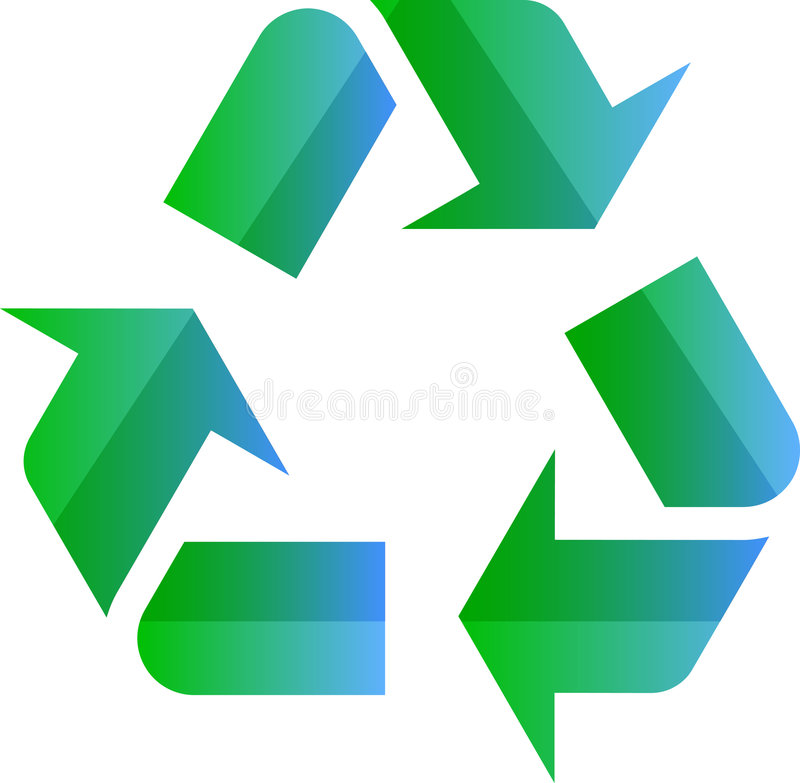 Download Recycling eco symbol stock vector. Illustration of background - 5950469