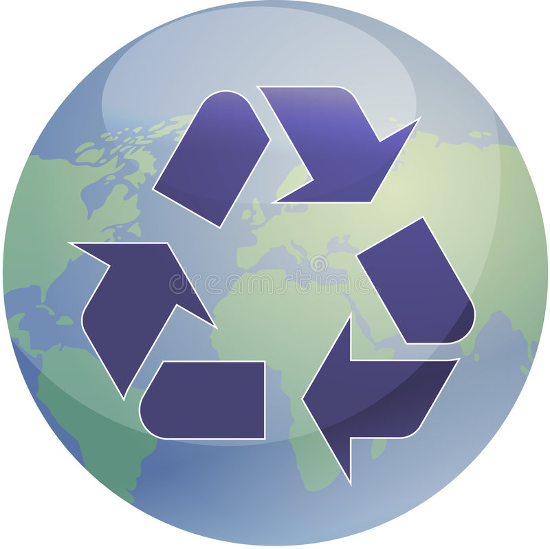 Download Recycling eco symbol stock vector. Image of concept, modern - 6642997