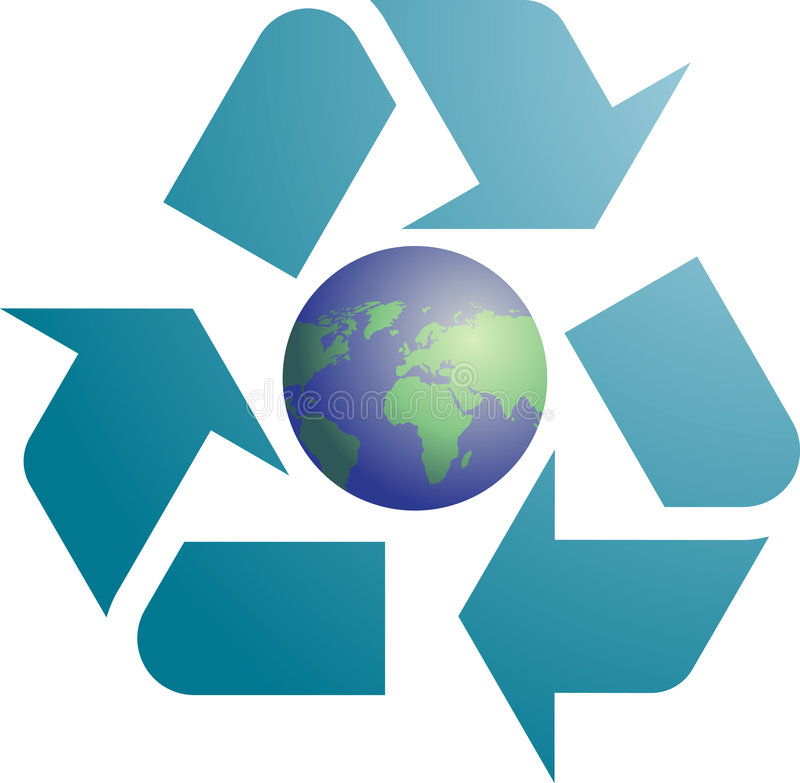 Download Recycling eco symbol stock vector. Image of ecology, graphic - 7120306