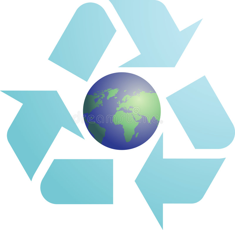 Download Recycling eco symbol stock illustration. Image of recycling - 8489771