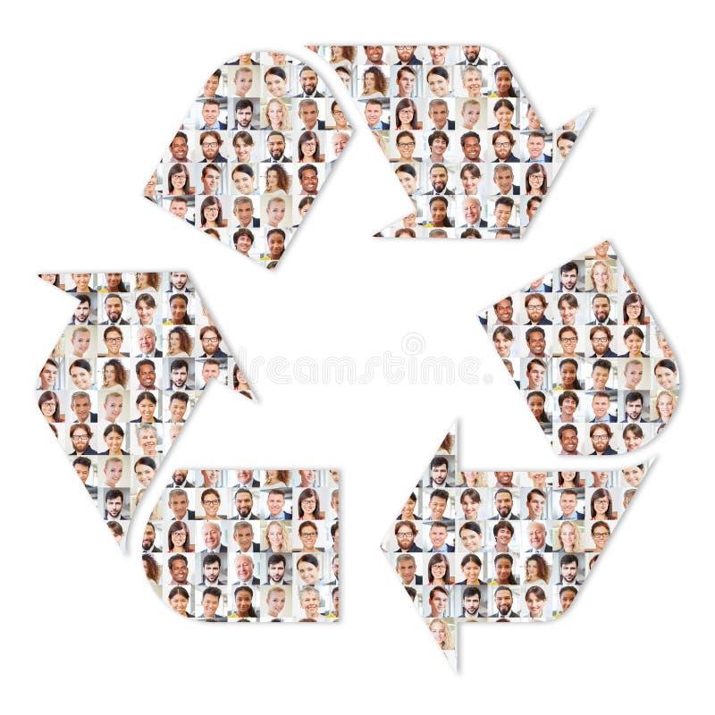 Recycling en duurzaamheid in bedrijven stock foto's