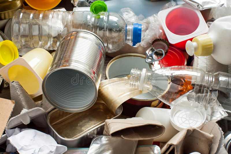 Recycling garbage stock photography