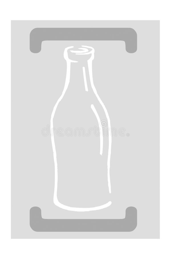 Recycling - glass vector illustration