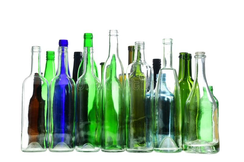 Recycling glass on white background royalty free stock images