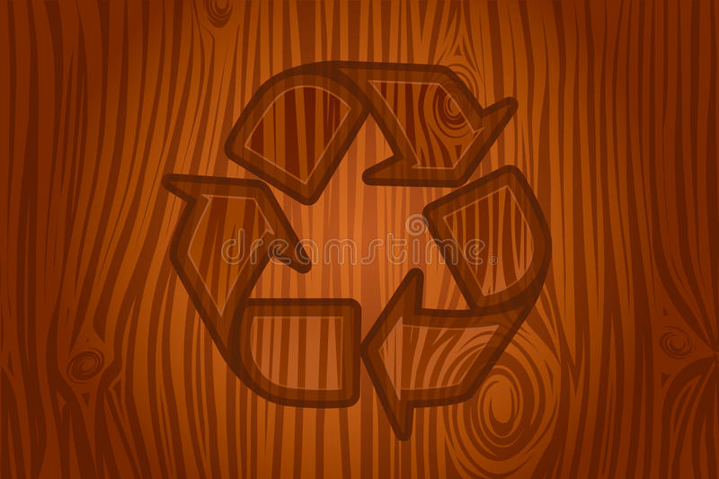 Recycling icon in bark vector royalty free illustration