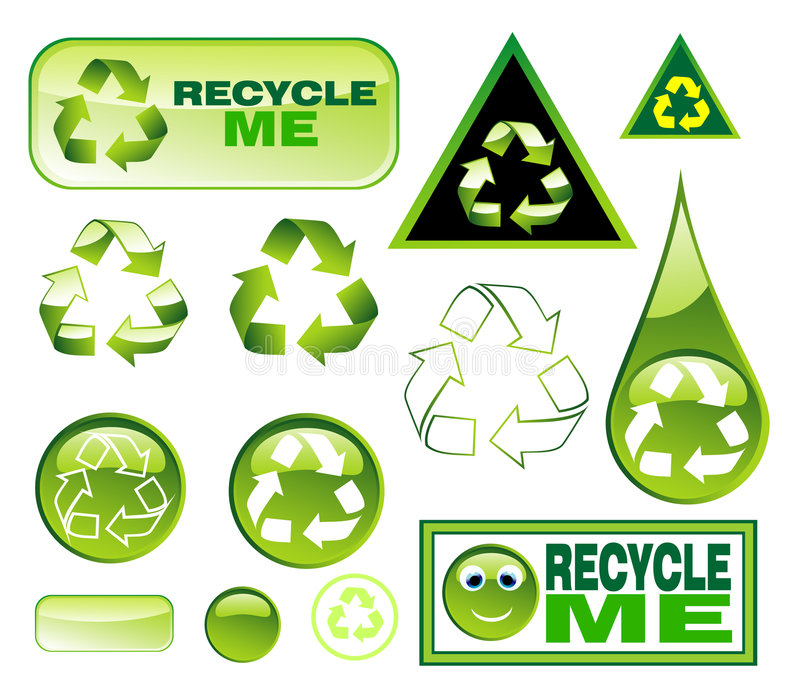 Recycling Icon set royalty free stock image