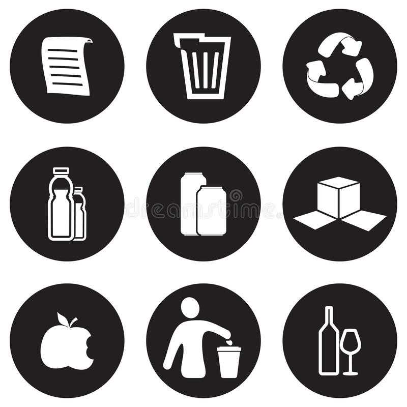 Recycling icon set. Vector illustration of the Recycling icon set royalty free illustration