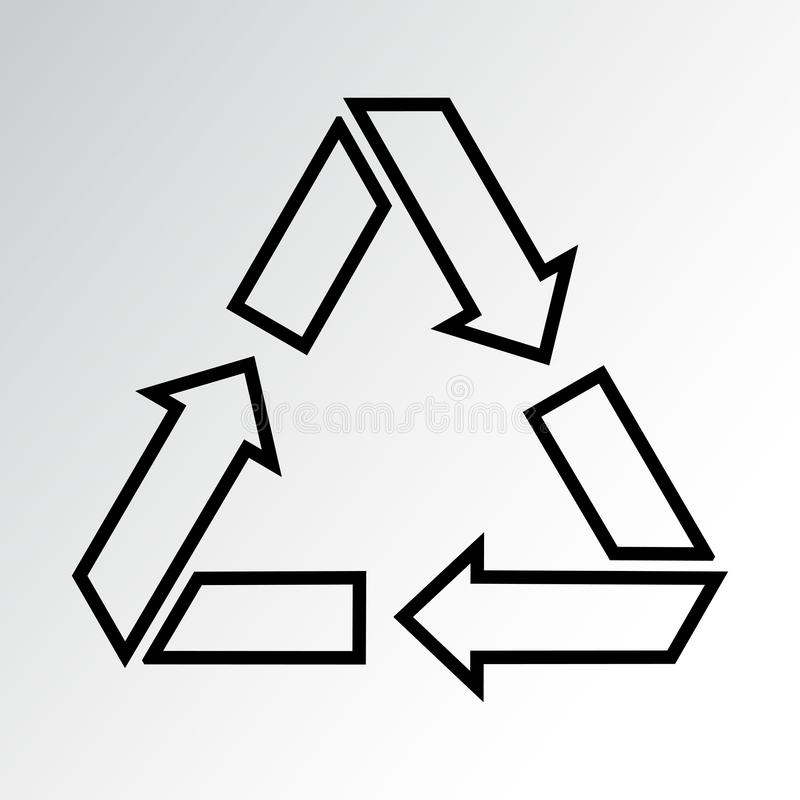 Recycling icon, waste sign, outline design. Vector illustration stock illustration