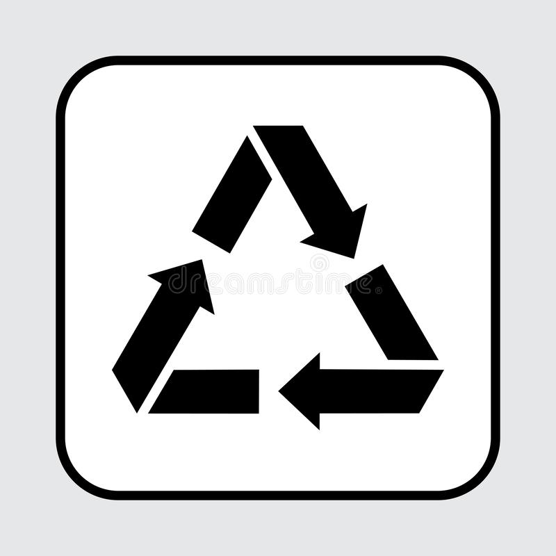 Recycling icon, waste sign. Vector illustration vector illustration