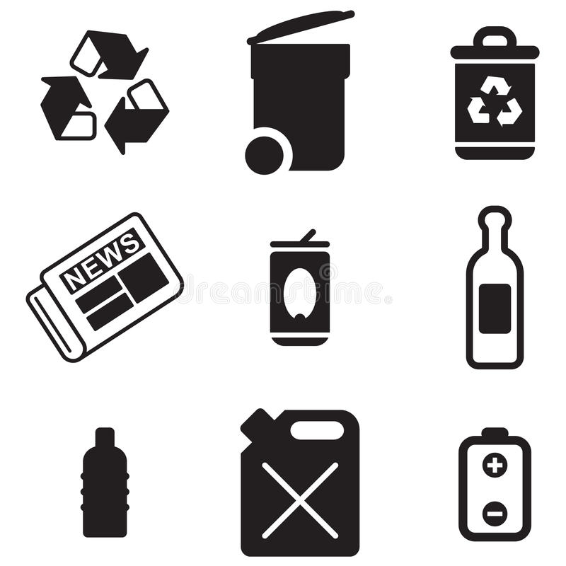 Free Recycling Icons Royalty Free Stock Photos - 40806778