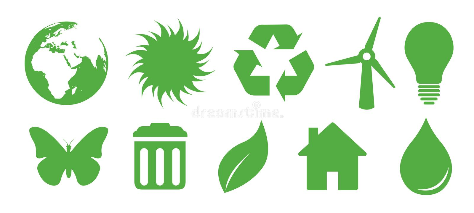Download Recycling icons stock illustration. Illustration of natural - 9232934