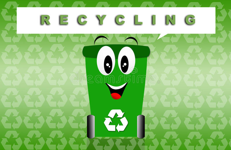 Recycling. Illustration of green bin for Recycling vector illustration