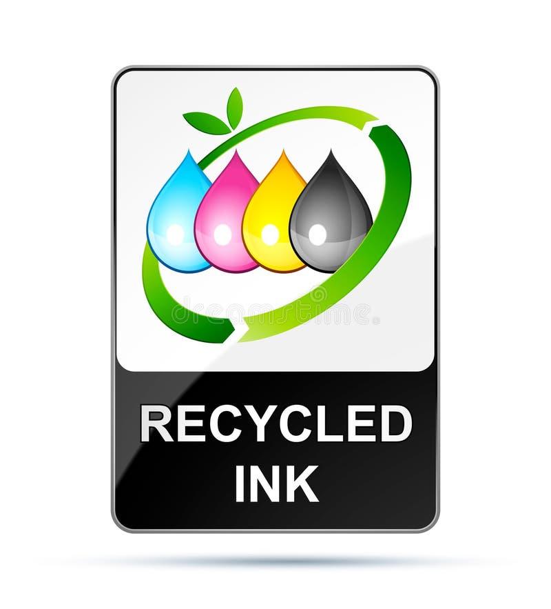 Recycling inkjet. Isolated on white stock illustration