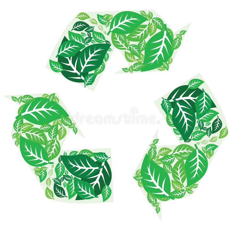 Download Recycling leaves stock vector. Image of leaf, concept - 15232783