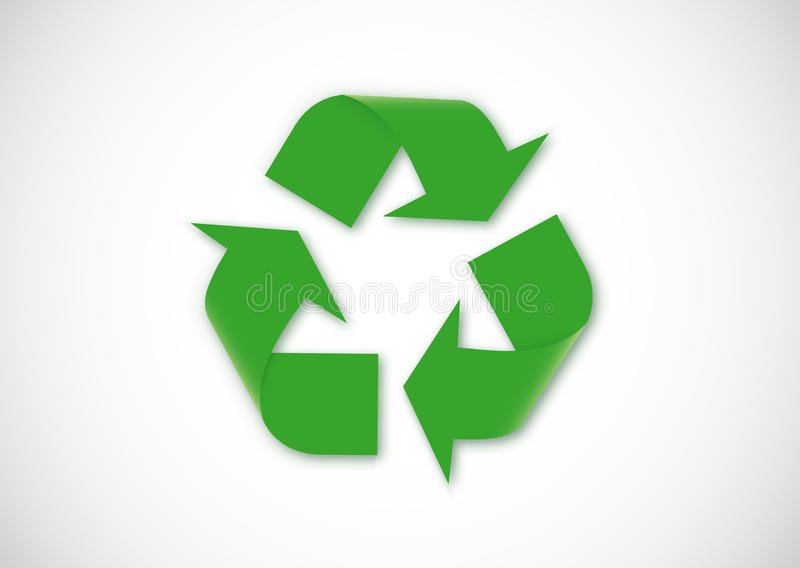 Recycling logo. On white background vector illustration
