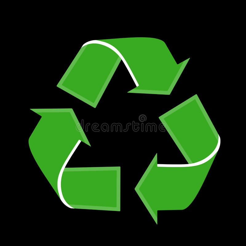 Recycling logo stock image