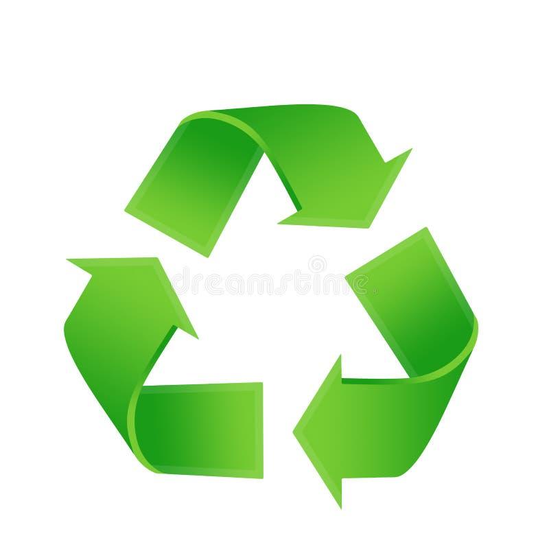 Recycling logo. Illustration in green vector illustration