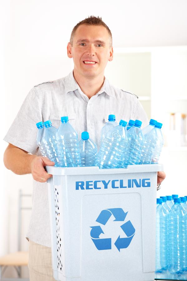 Download Recycling Man With Bin stock image. Image of caucasian - 20513759