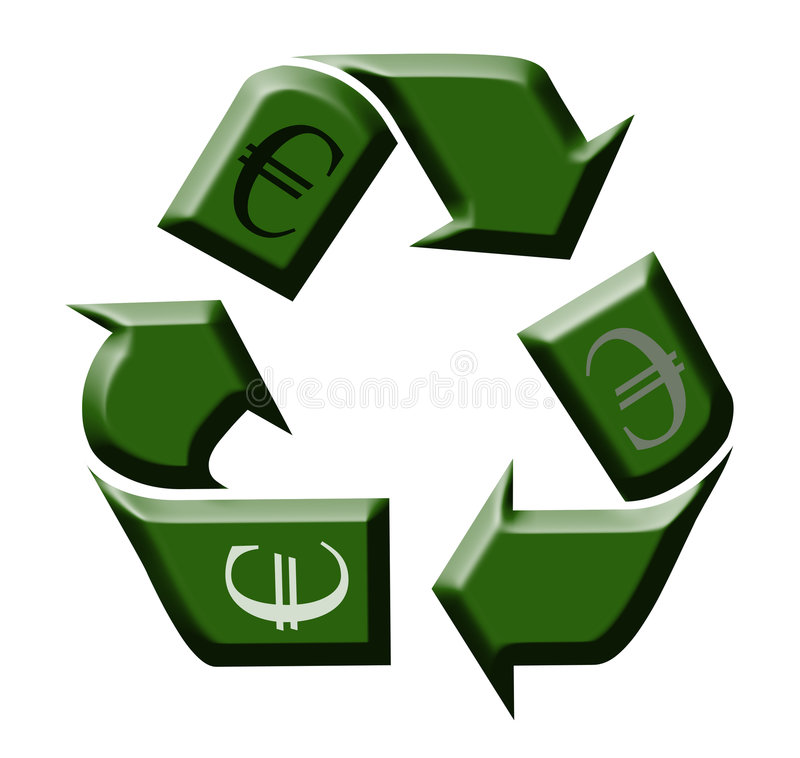 Download Recycling Money stock illustration. Illustration of cycle - 9305410